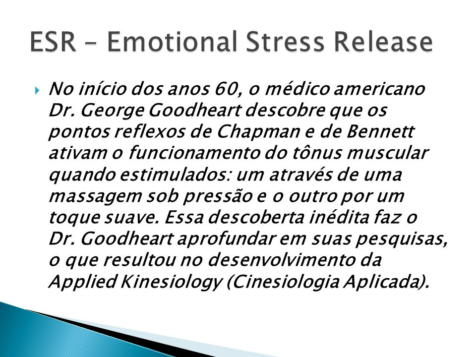 ESR – Emotional Stress Release