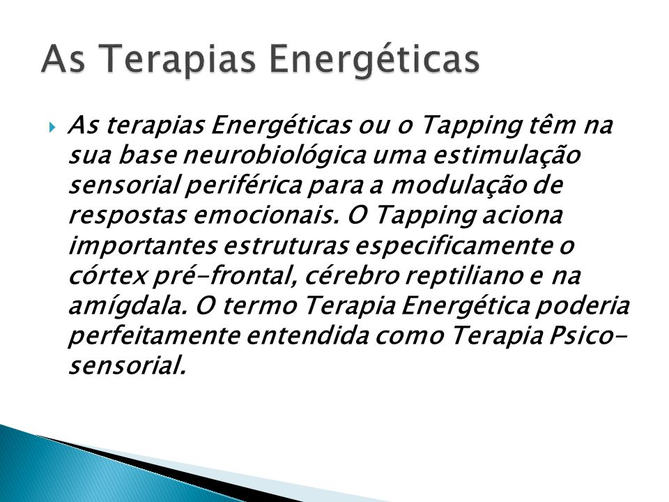 As Terapias Energéticas