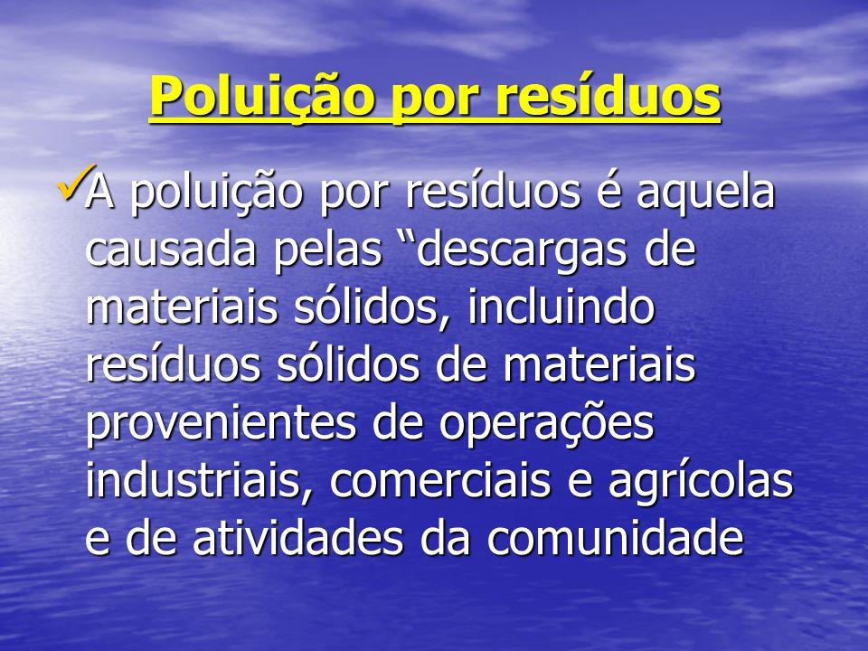 Poluição por resíduos