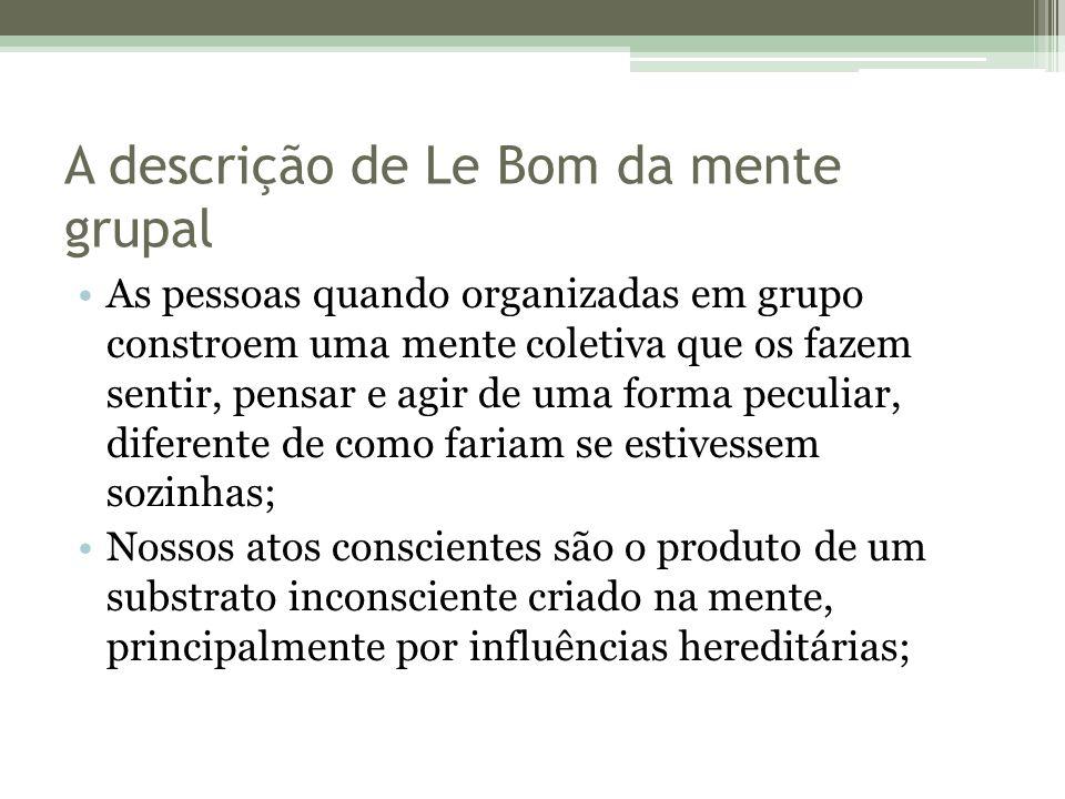A descrição de Le Bom da mente grupal