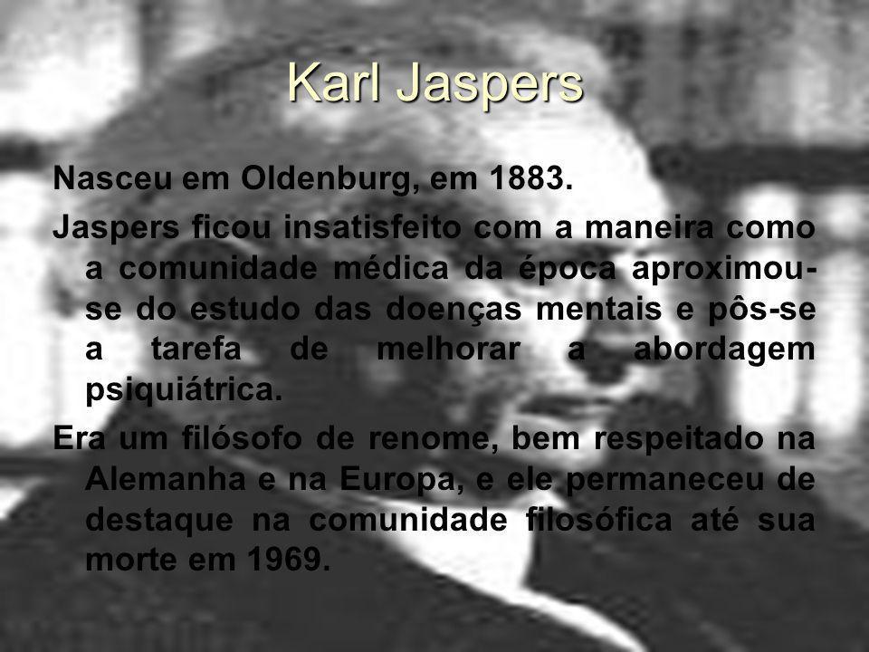 Karl Jaspers Nasceu em Oldenburg, em 1883.