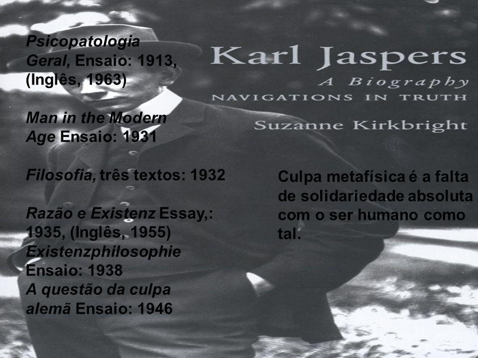 Psicopatologia Geral, Ensaio: 1913, (Inglês, 1963)