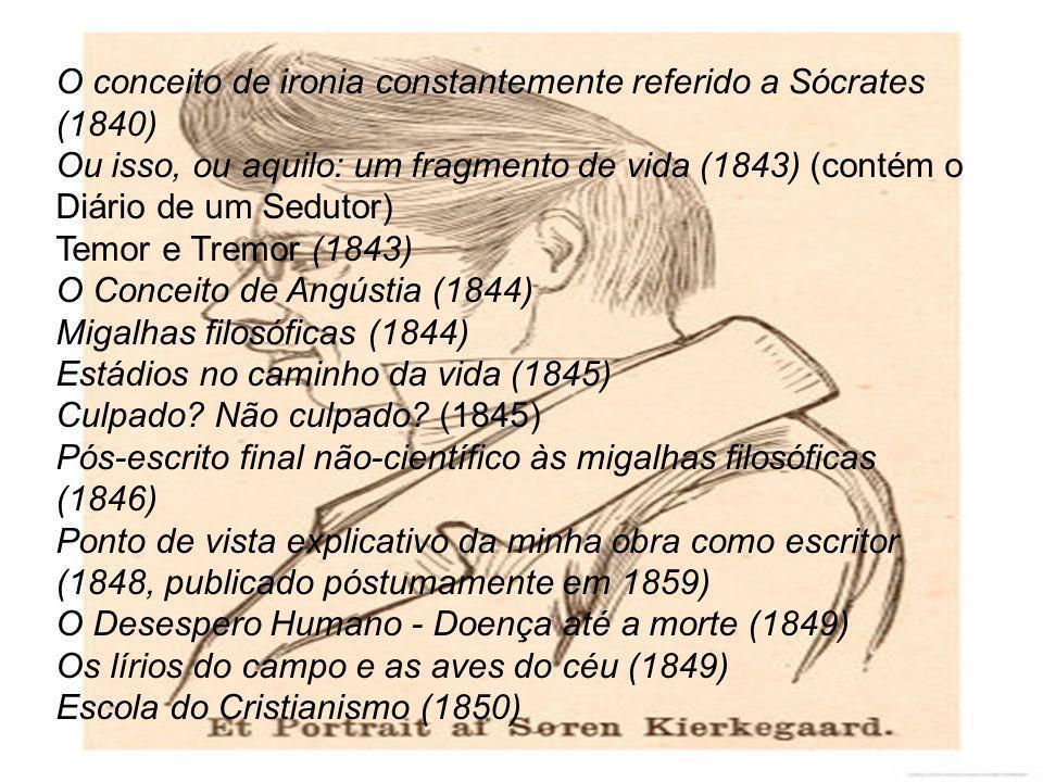 O conceito de ironia constantemente referido a Sócrates (1840)