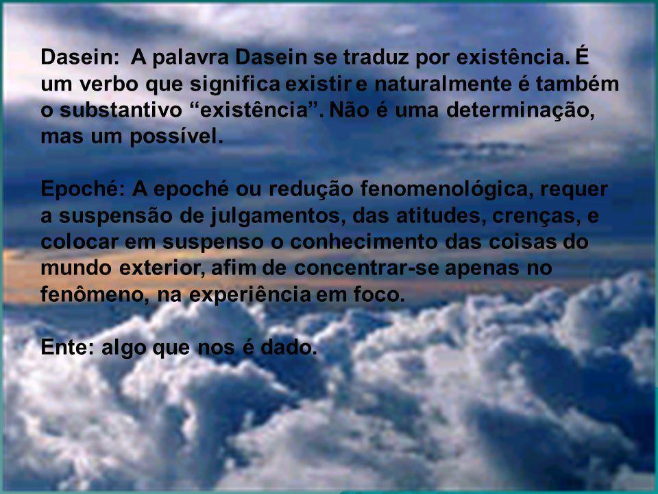 Dasein: A palavra Dasein se traduz por existência