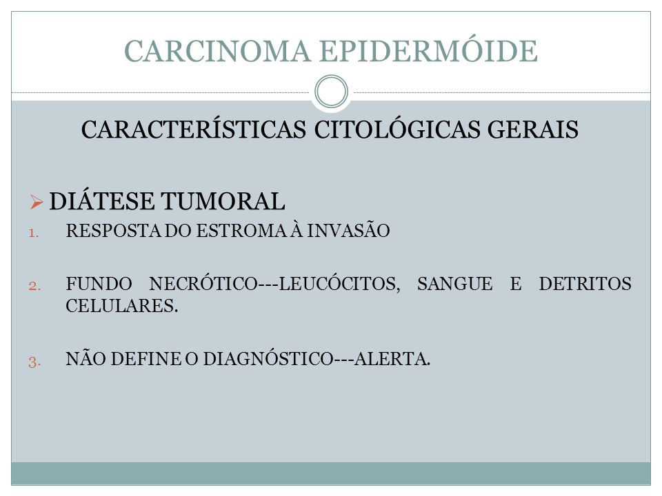 CARCINOMA EPIDERMÓIDE