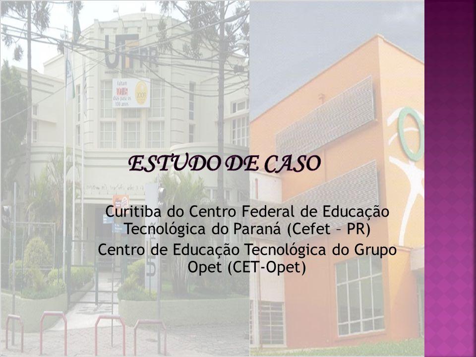 Estudo de Caso Curitiba do Centro Federal de Educação Tecnológica do Paraná (Cefet – PR) Centro de Educação Tecnológica do Grupo Opet (CET-Opet)