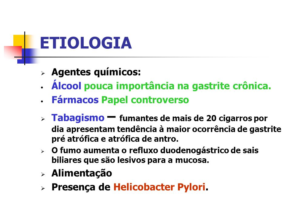 ETIOLOGIA Agentes químicos: