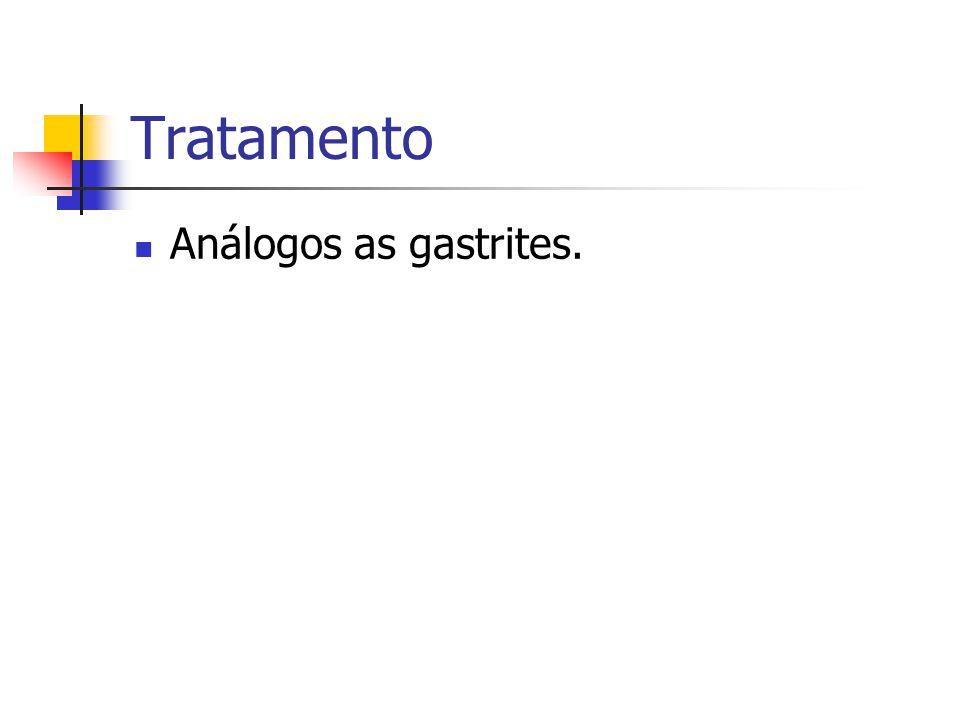 Tratamento Análogos as gastrites.