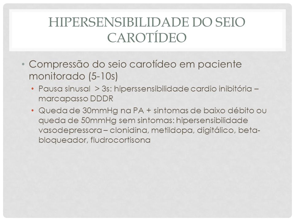 Hipersensibilidade do seio carotídeo