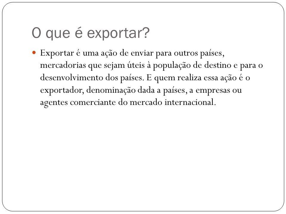 O que é exportar