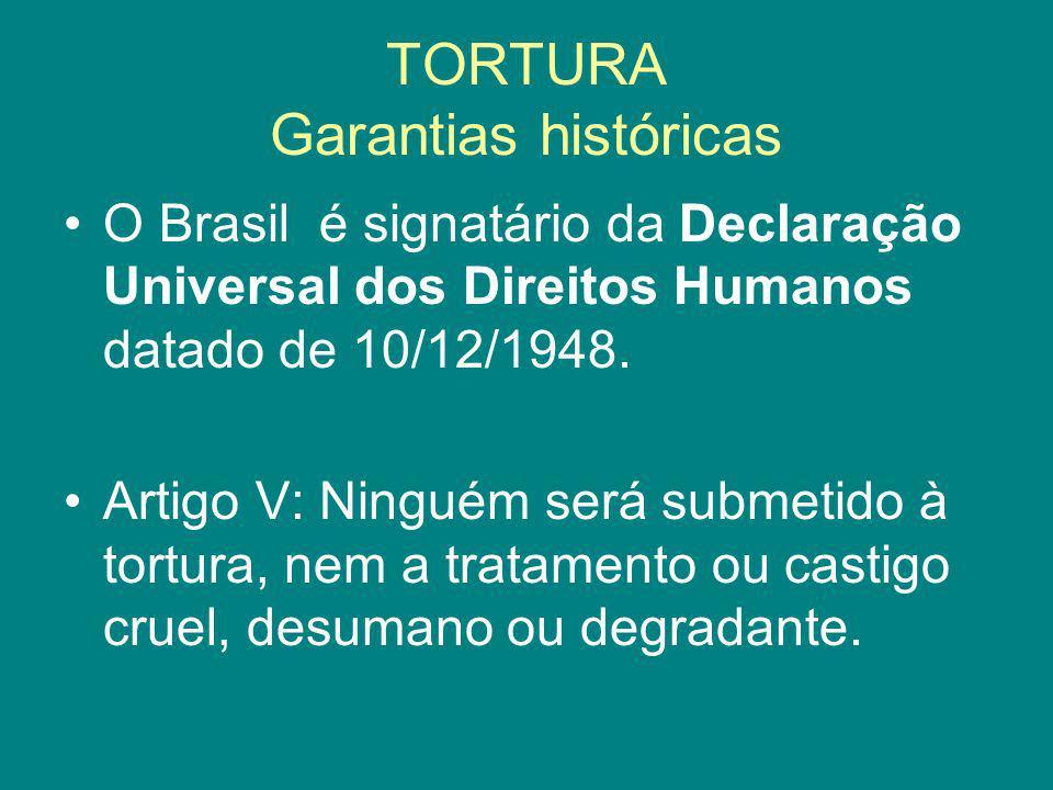 TORTURA Garantias históricas