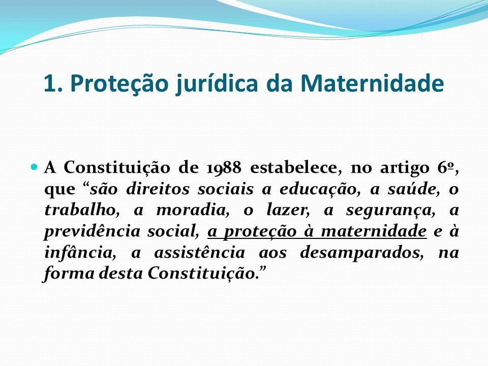1. Proteção jurídica da Maternidade