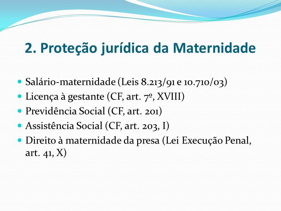 2. Proteção jurídica da Maternidade