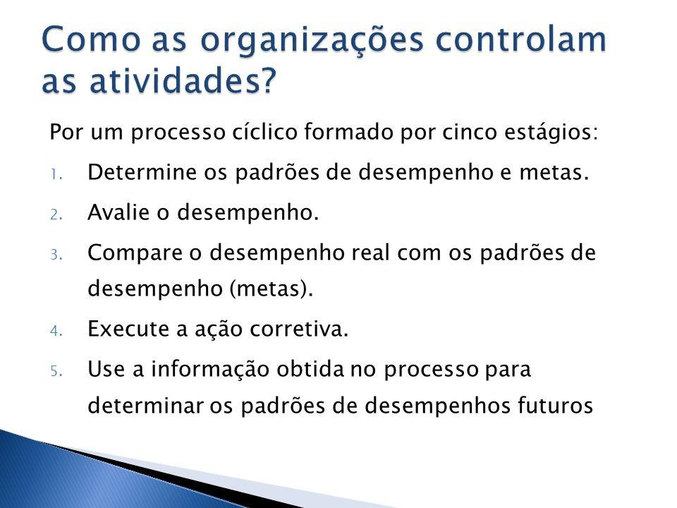 Como as organizações controlam as atividades