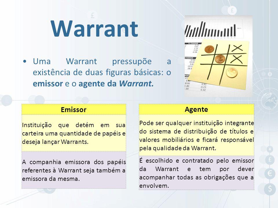 Warrant Uma Warrant pressupõe a existência de duas figuras básicas: o emissor e o agente da Warrant.