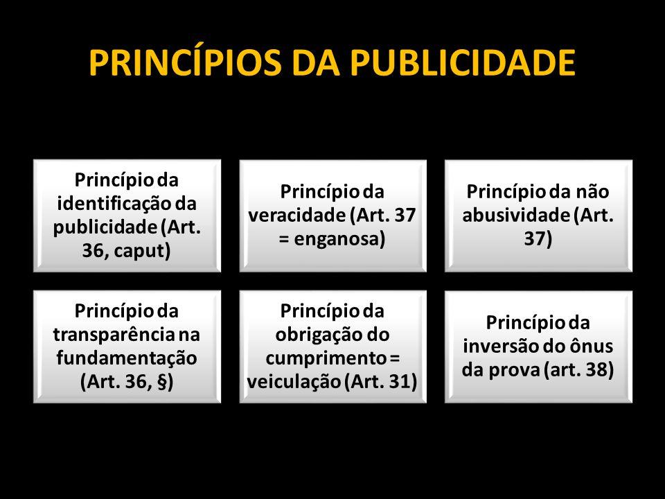 PRINCÍPIOS DA PUBLICIDADE