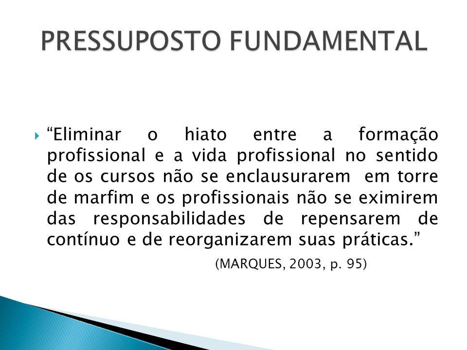 PRESSUPOSTO FUNDAMENTAL