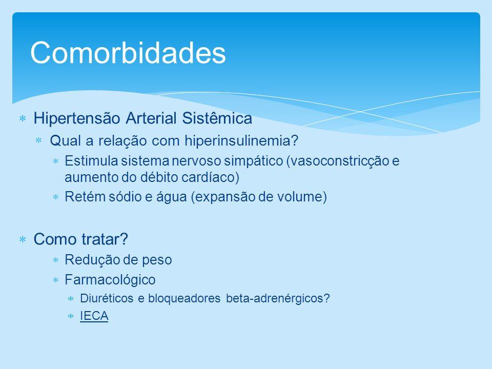 Comorbidades Hipertensão Arterial Sistêmica Como tratar