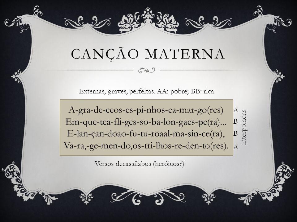 Canção materna A-gra-de-ceos-es-pi-nhos-ea-mar-go(res)