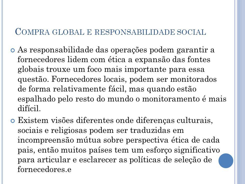 Compra global e responsabilidade social