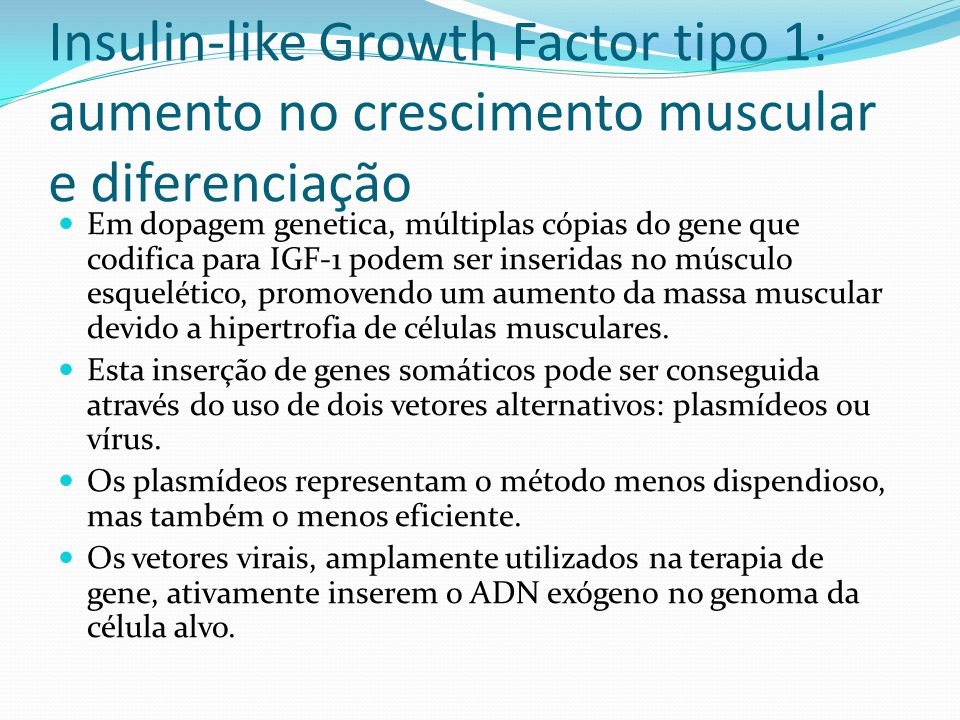 Insulin-like Growth Factor tipo 1: aumento no crescimento muscular e diferenciação