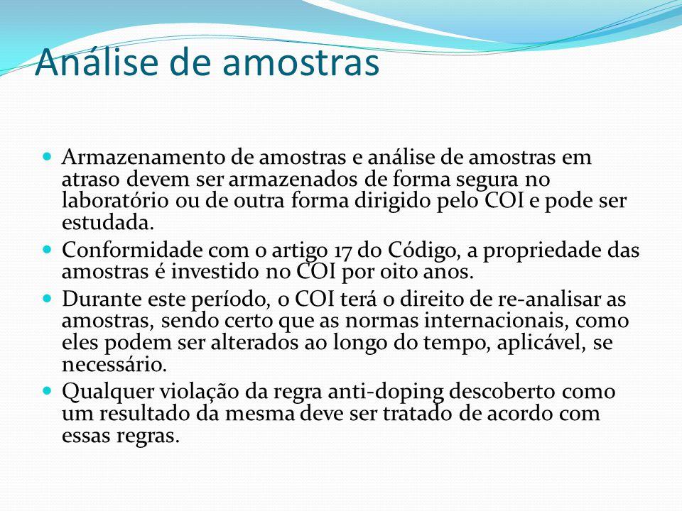 Análise de amostras