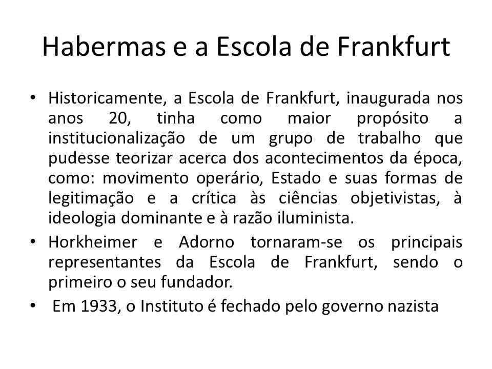 Habermas e a Escola de Frankfurt