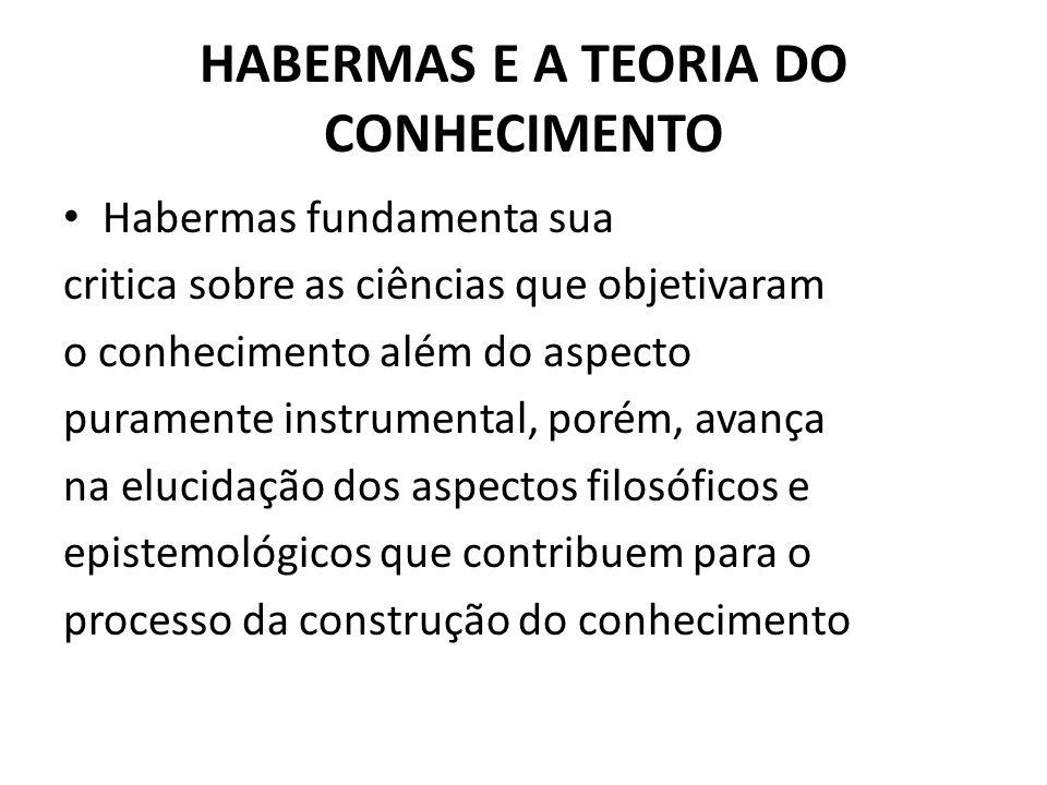 HABERMAS E A TEORIA DO CONHECIMENTO