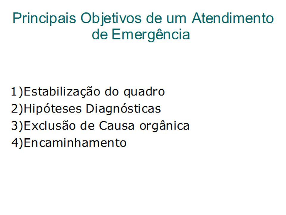 Principais Objetivos de um Atendimento de Emergência