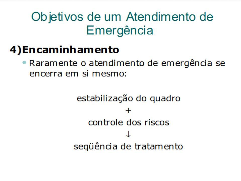 Objetivos de um Atendimento de Emergência
