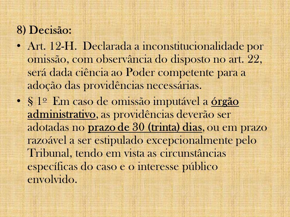 8) Decisão: