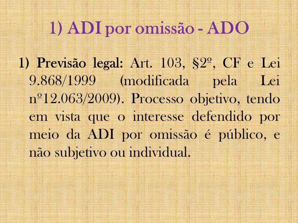 1) ADI por omissão - ADO