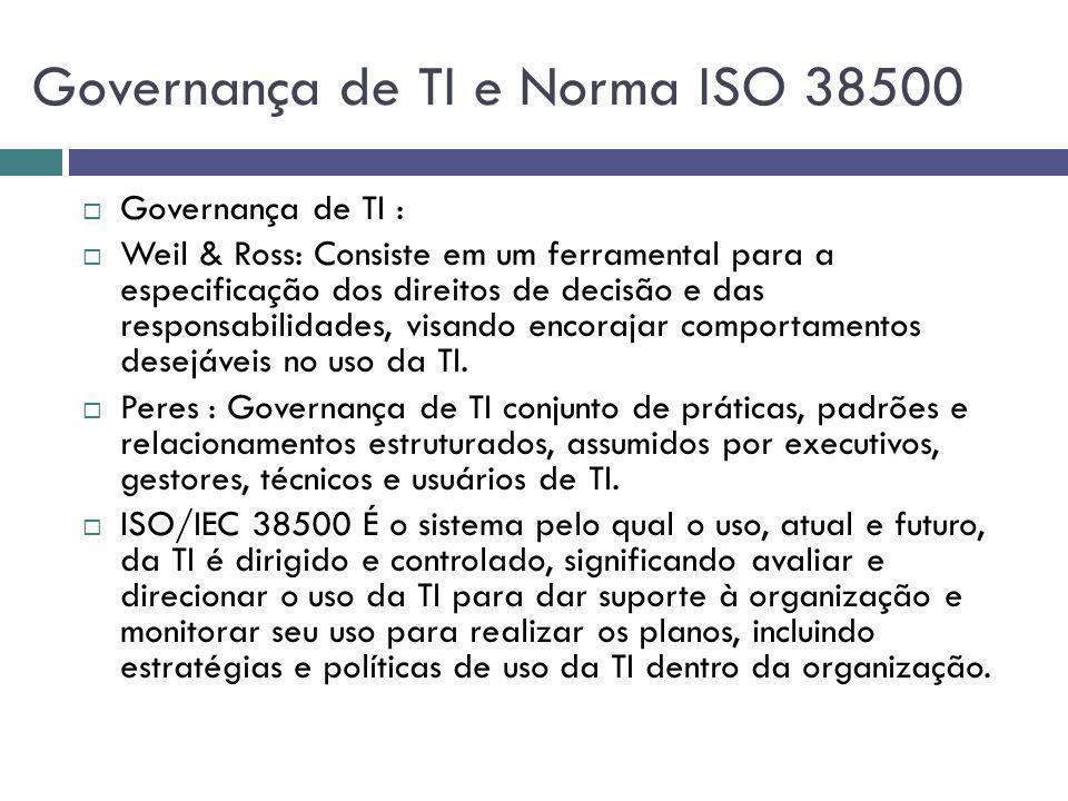Governança de TI e Norma ISO 38500