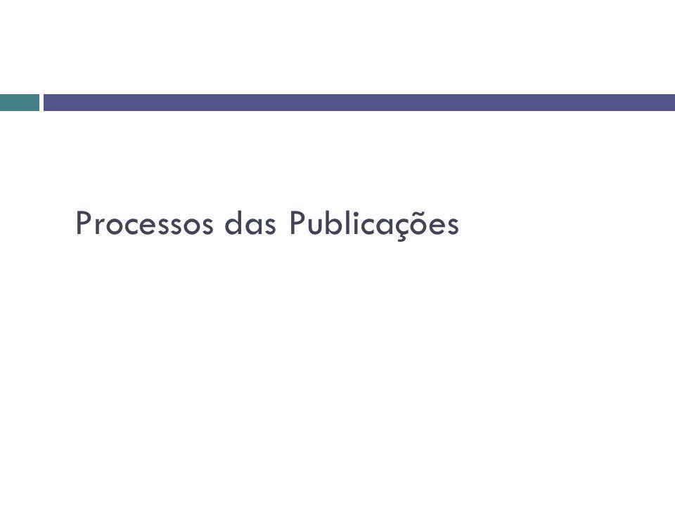 Processos das Publicações