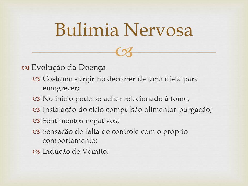 Bulimia Nervosa Evolução da Doença