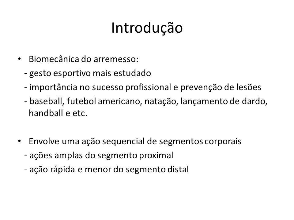 Introdução Biomecânica do arremesso: - gesto esportivo mais estudado