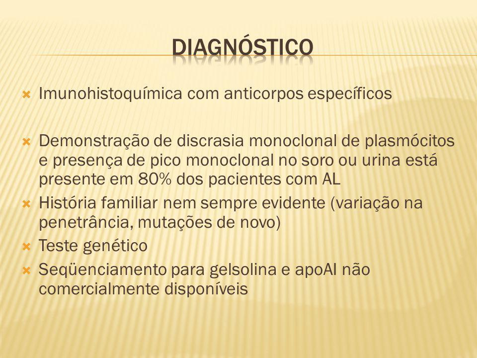 Diagnóstico Imunohistoquímica com anticorpos específicos