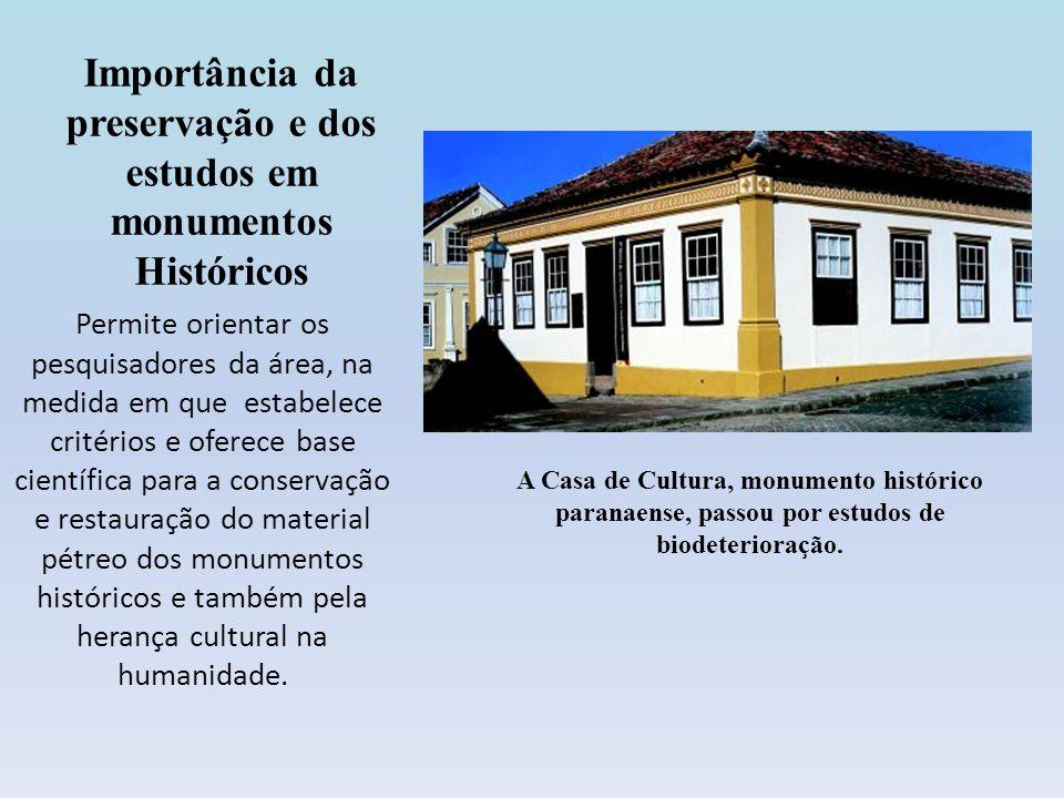 Importância da preservação e dos estudos em monumentos Históricos