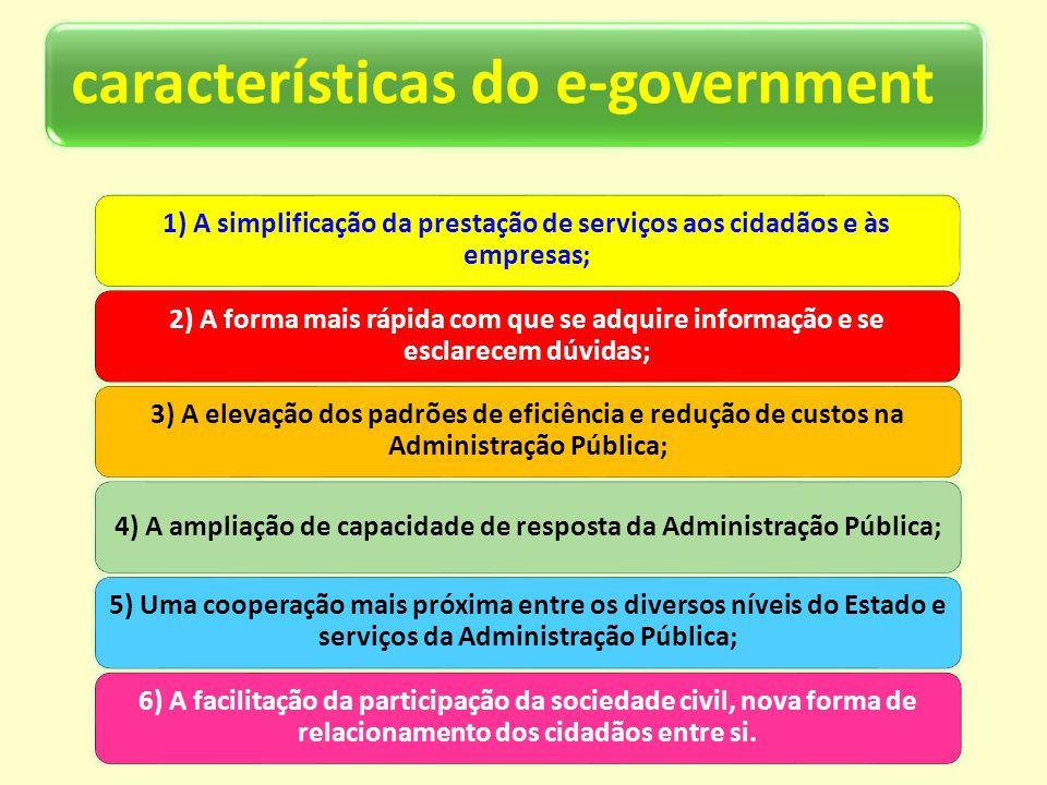 4) A ampliação de capacidade de resposta da Administração Pública;