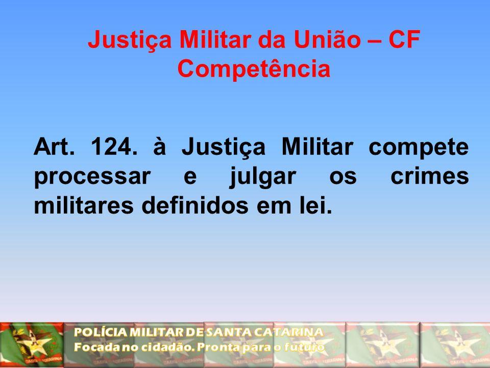 Justiça Militar da União – CF Competência