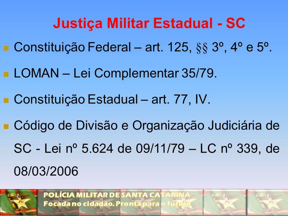 Justiça Militar Estadual - SC