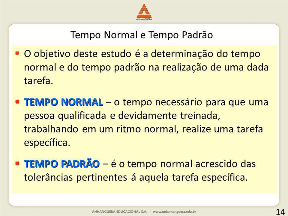 Tempo Normal e Tempo Padrão
