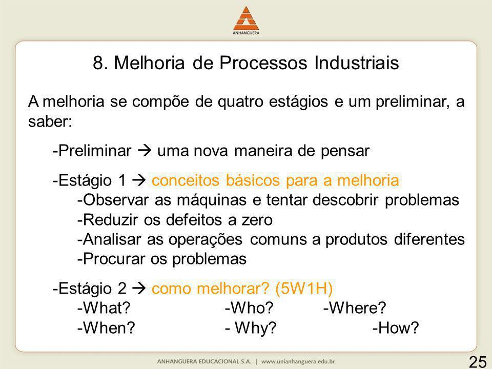 8. Melhoria de Processos Industriais