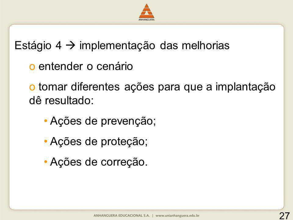 Estágio 4  implementação das melhorias