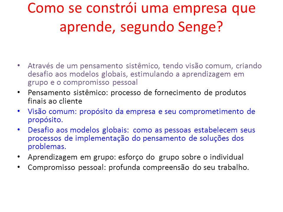 Como se constrói uma empresa que aprende, segundo Senge