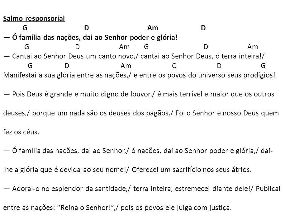 Salmo responsorial G D Am D.