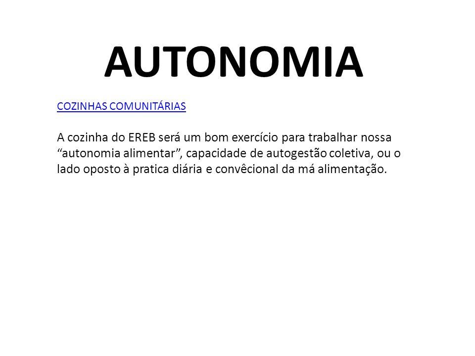 AUTONOMIA COZINHAS COMUNITÁRIAS.