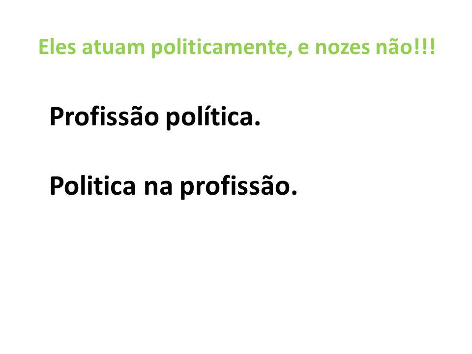 Profissão política. Politica na profissão.