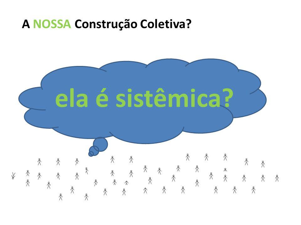 ela é sistêmica A NOSSA Construção Coletiva