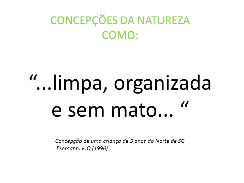 CONCEPÇÕES DA NATUREZA